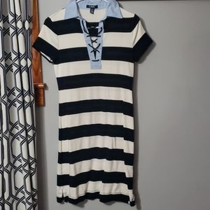 Womens Chaps Small striped dress